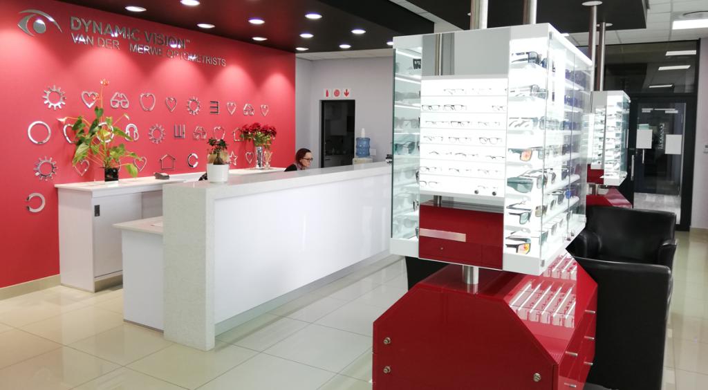 Van der merwe optometrists shop front